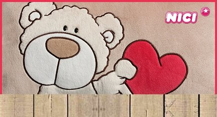 NICI Love Knuffelbeer