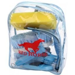Red Horse Grooming Kit in Rugzak-Blauw