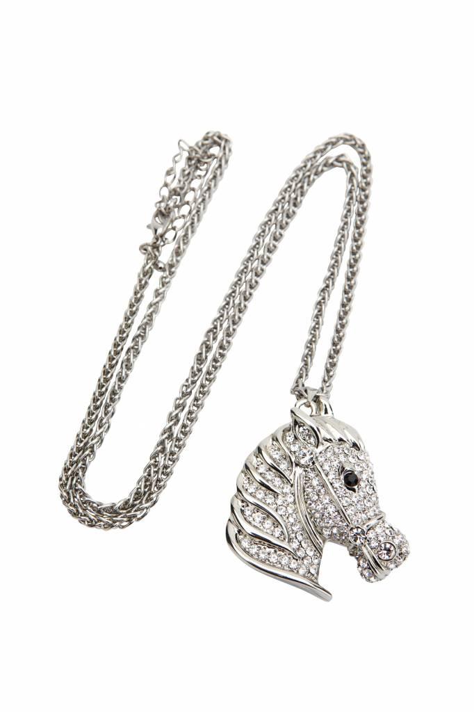 Ketting Paardenhoofd Bling Zilver