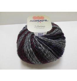 Adriafil Zebrino garen grijs/groen/bordo
