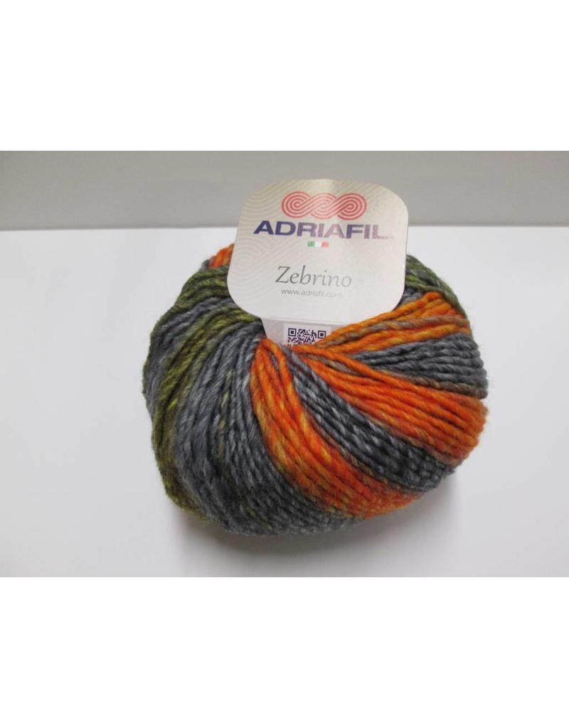 Adriafil Zebrino garen oranje/grijs/bruin
