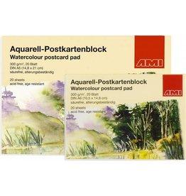 AMI Aquarell postcardbloc
