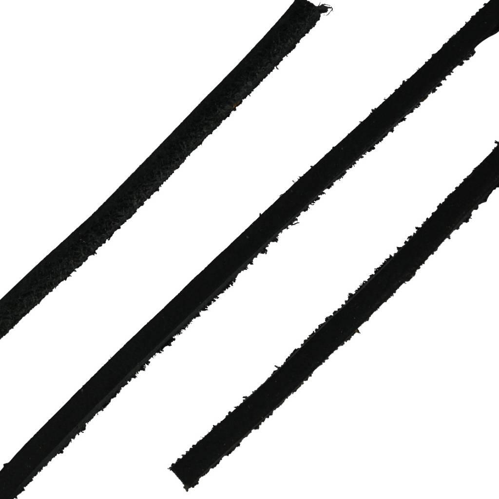 Leren Veters Zwart 120cm