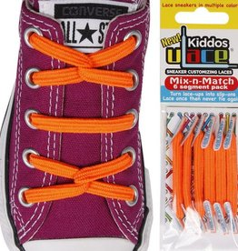 U-LACE VETERS Kiddos Neon Oranje