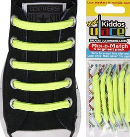 U-LACE VETERS Kiddos Neon Geel
