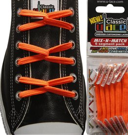 U-LACE VETERS Mix-n-Match Neon Oranje
