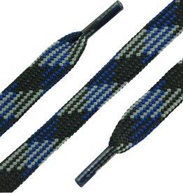 Zwart-Blauw-Grijs 150cm Platte Outdoor Veters