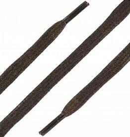 Donkerbruin 90cm Platte Wax Veters