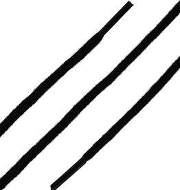 Zwart 45cm Dunne Ronde Veters