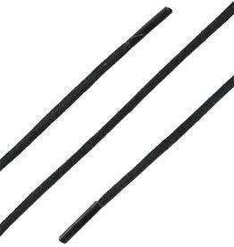 Zwart 75cm Extra Dunne Wax Veters