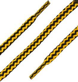 Zwart-Geel 180cm Dikke Ronde Veters