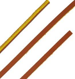Leren Veters Bruin-Geel 120cm