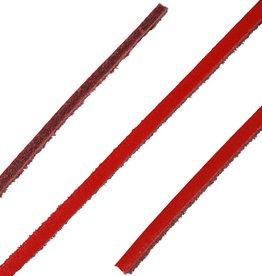 Leren Veters Rood 120cm