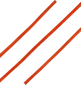 Ronde Leren Veters Oranje 100cm