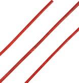 Ronde Leren Veters Rood 100cm
