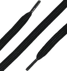 90cm Elastische Veters plat Zwart