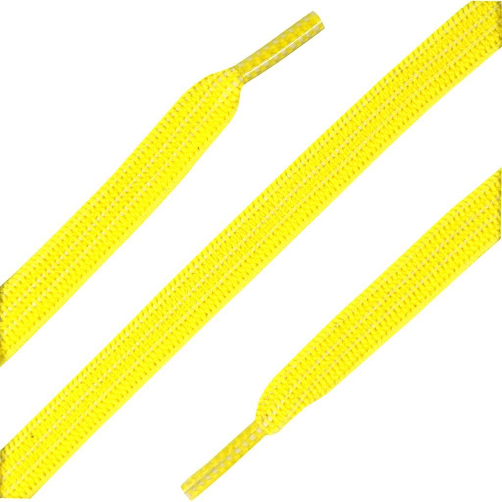 Elastische Veters plat Geel 90cm