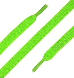 90cm Elastische Veters plat neon Groen