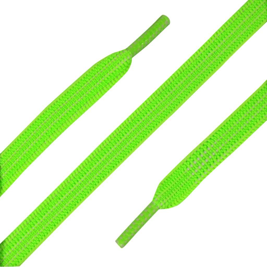 Elastische Veters plat Neon Groen 90cm