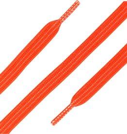 90cm Elastische Veters plat Neon Oranje