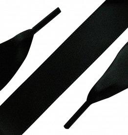 Veters Satijn Zwart 90cm
