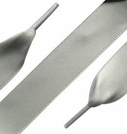 Veters Satijn Zilver 90cm