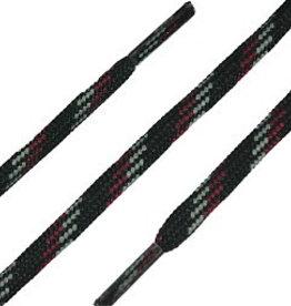 Zwart-Grijs-Rood 120cm Ronde Outdoor Veters