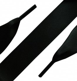 Veters Satijn Zwart 120 cm