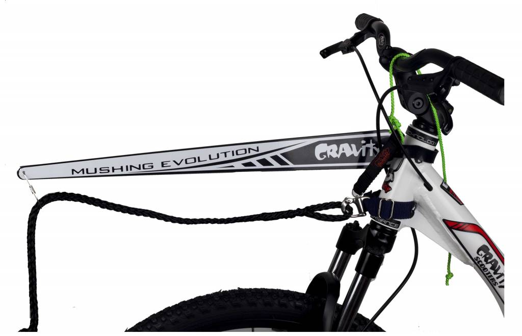 Gravity free scooters. Gravity Universele antenne + quick release koord voor Mushing, Bikejoring en Stepjoring