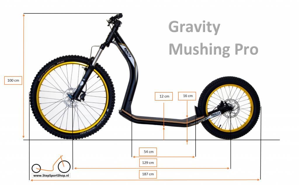 Gravity free scooters. Gravity Mushing Pro