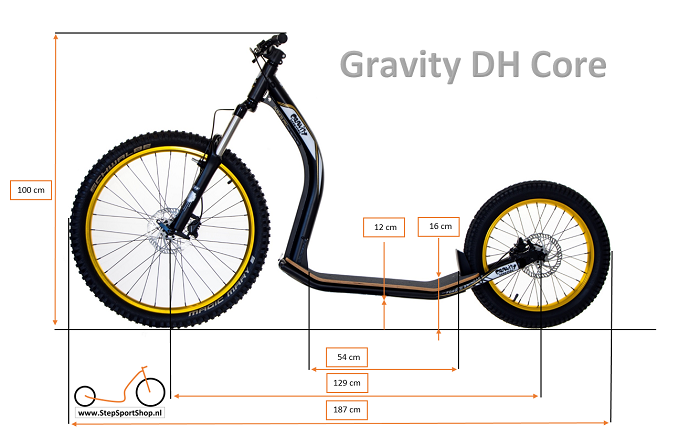 StepSportShop Gravity DH Core Afmetingen