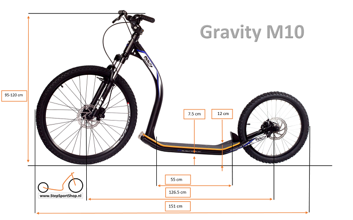 StepSportShop Gravity M10 afmetingen