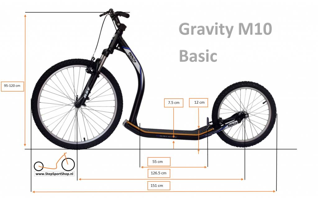 Gravity free scooters. Gravity M10 Basic step