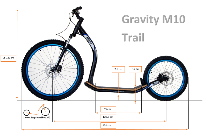 StepSportShop Gravity M10 Trail afmetingen