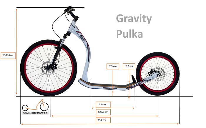 StepSportShop Gravity Pulka afmetingen