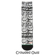 Xpooos Damessokken Crowded Owls