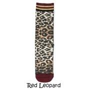Xpooos Damessokken Red Leopard