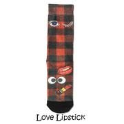 Xpooos Damessokken Love Lipstick