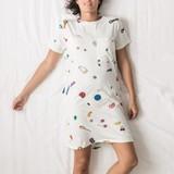 SNURK Dames T-shirt Dress Candy Blast