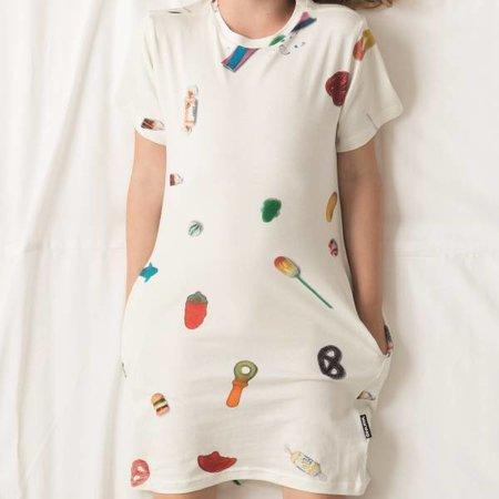 SNURK Kids T-shirt Dress Candy Blast met print van heerlijk snoepjes