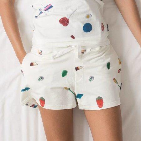 SNURK Dames Short Candy Blast met print van snoepjes