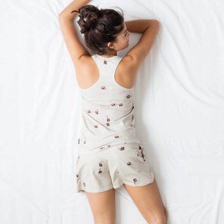 SNURK Dames Short met print van slakken
