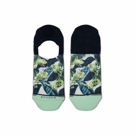 Xpooos Xpooos Footies - Heren Sneakersokken Chameleons