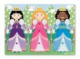 Melissa & Doug Knopjes puzzel prinsessen jurken