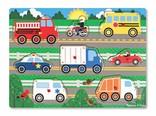Melissa & Doug Knopjes puzzel voertuigen