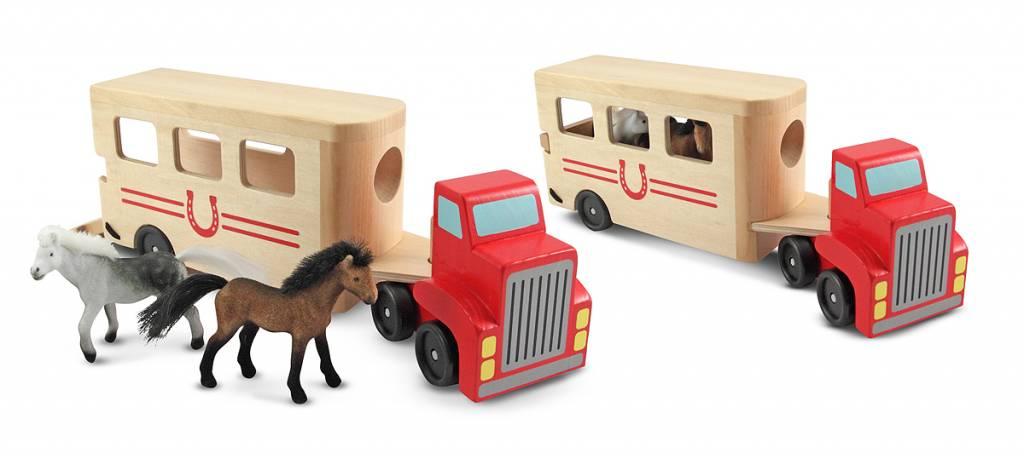 Melissa & Doug Paarden transporter met 2 paarden