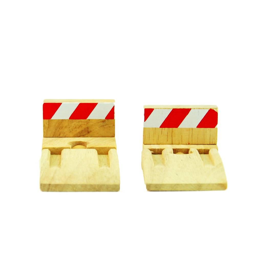 Mentari Eindrails en stopblokken