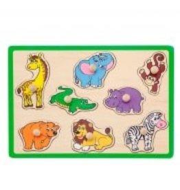 Jouéco Knopjes puzzel dierentuin