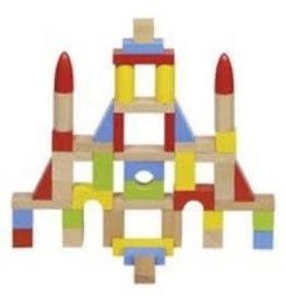 Goki Set van 50 houten blokken in tas