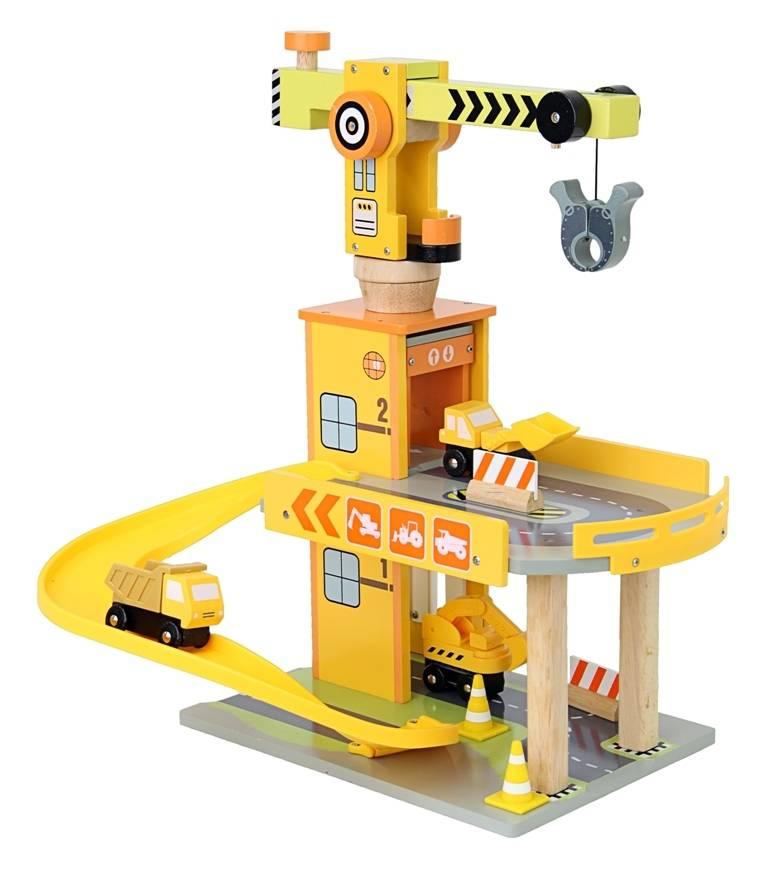 Mentari Garage met bouwkraan